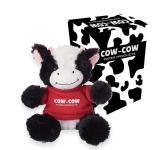 """6"""" Cuddly Cow With Custom Box"""