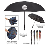 "48"" Arc Soho Tartan Inversion Umbrella"