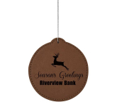 Leatherette Ornament - Circle