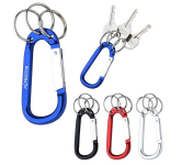 8mm Carabiner With Triple Split Ring