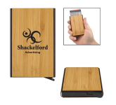 Bamboo RFID Data Blocking Card Holder