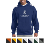 Sport-Tek Sleeve Stripe Pullover Hooded Sweatshirt