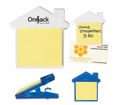 House Shaped Memo Clip With Sticky Notes