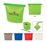 Reusable Food Bag With Plastic Slider