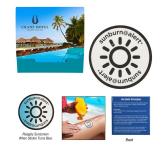 Sunburn Alert UV Color-Changing Sticker With Custom Pack