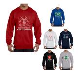 """Champion Double Dry Eco Crewneck """"Ugly Sweater"""" Sweatshirt"""