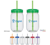 25 oz. Tritan Mason Jar With Matching Straw