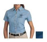 Port & Company Ladies' Short Sleeve Value Denim Shirt