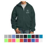 Port & Company Youth Core Fleece Full-Zip Hooded Sweatshirt