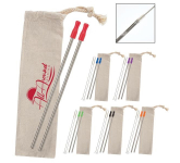 2-Pack Stainless Straw Kit with Cotton Pouch