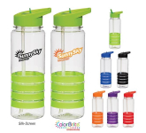 24 oz. Tritan Banded Gripper Water Bottle With Straw