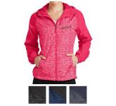 Sport-Tek Ladies' Heather Colorblock Raglan Hooded Wind J...